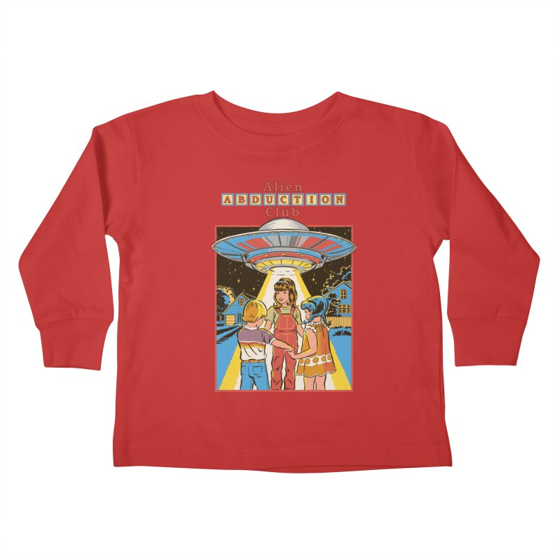 Alien Abduction Club Kids Toddler Longsleeve T-Shirt by Steven Rhodes
