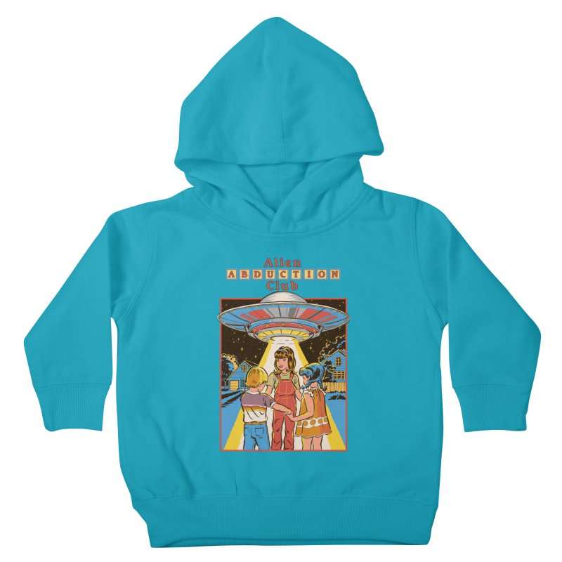 Alien Abduction Club Kids Toddler Pullover Hoody by Steven Rhodes