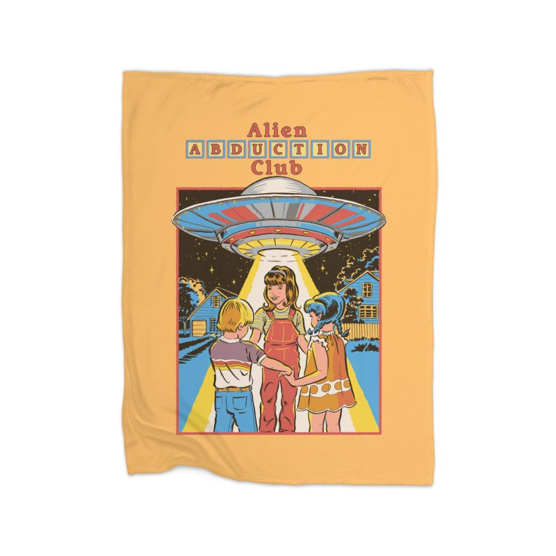 Alien Abduction Club Home Blanket by Steven Rhodes