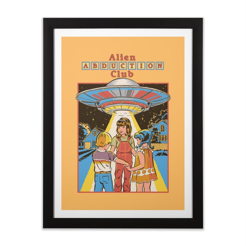 Alien Abduction Club Home Framed Fine Art Print by Steven Rhodes