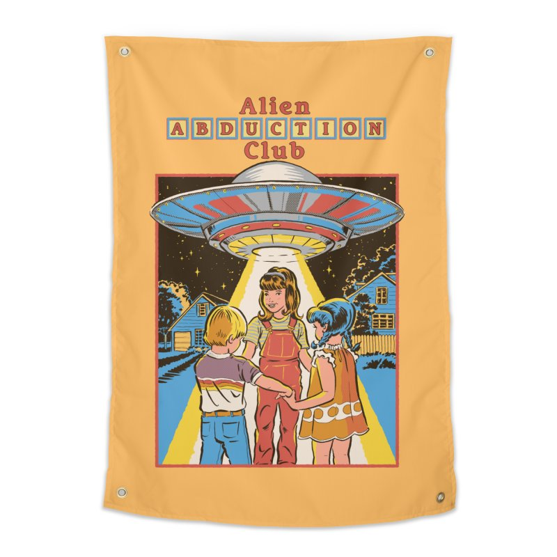Alien Abduction Club Home Tapestry by Steven Rhodes