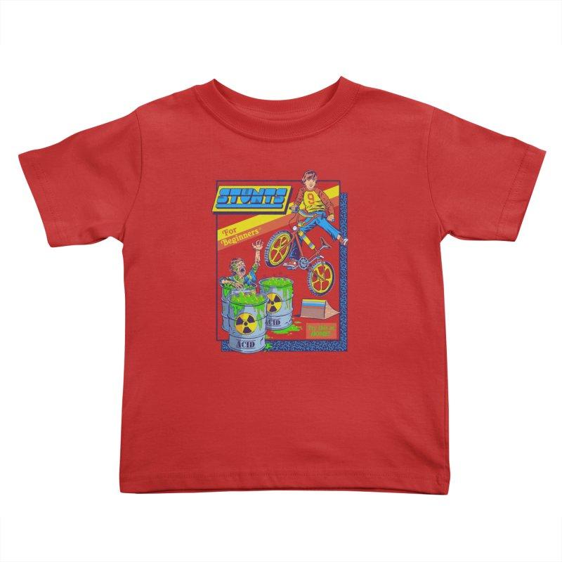 Stunts for Beginners Kids Toddler T-Shirt by Steven Rhodes