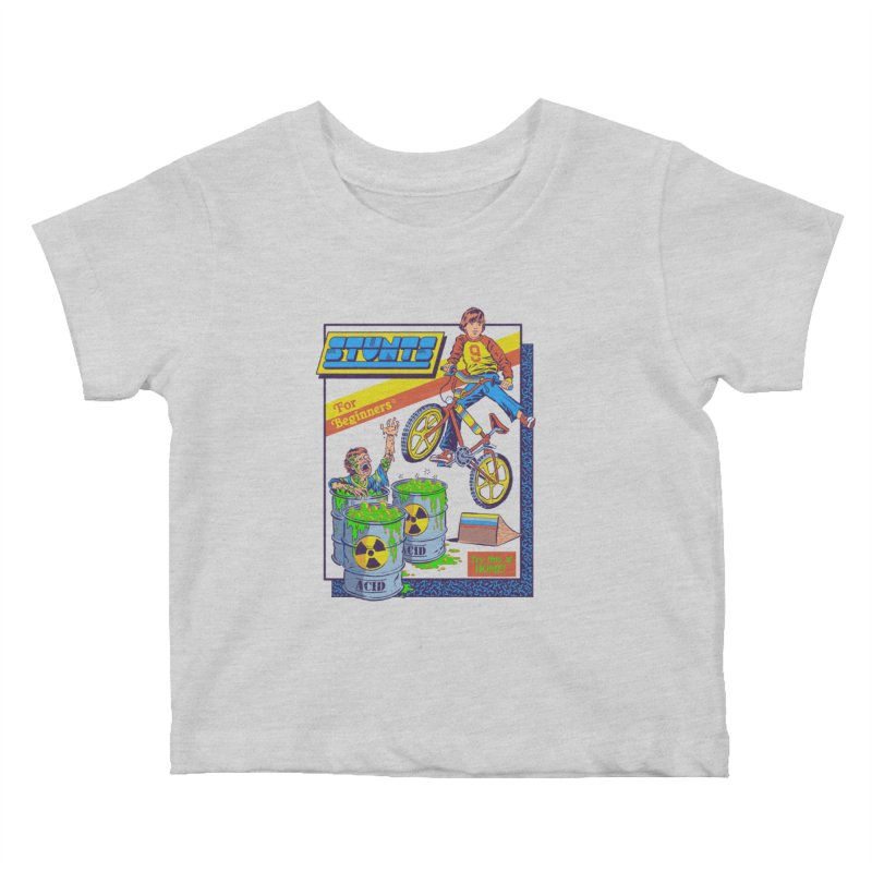 Stunts for Beginners Kids Baby T-Shirt by Steven Rhodes