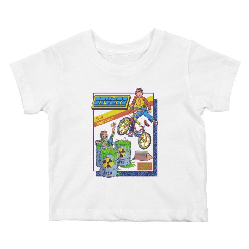 Stunts for Beginners Kids Baby T-Shirt by Steven Rhodes