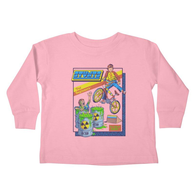 Stunts for Beginners Kids Toddler Longsleeve T-Shirt by Steven Rhodes
