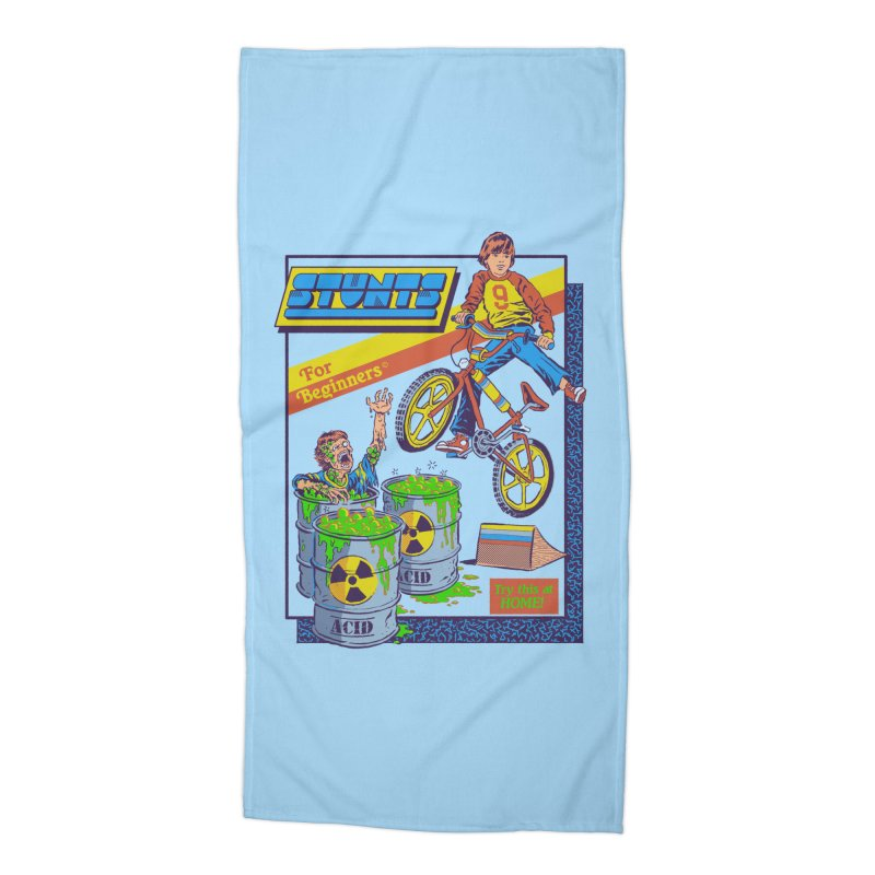 Stunts for Beginners Accessories Beach Towel by Steven Rhodes