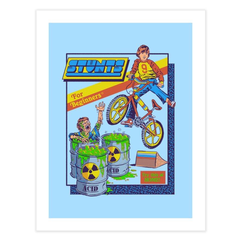 Stunts for Beginners Home Fine Art Print by Steven Rhodes
