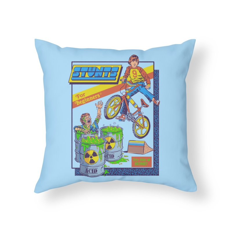 Stunts for Beginners Home Throw Pillow by Steven Rhodes