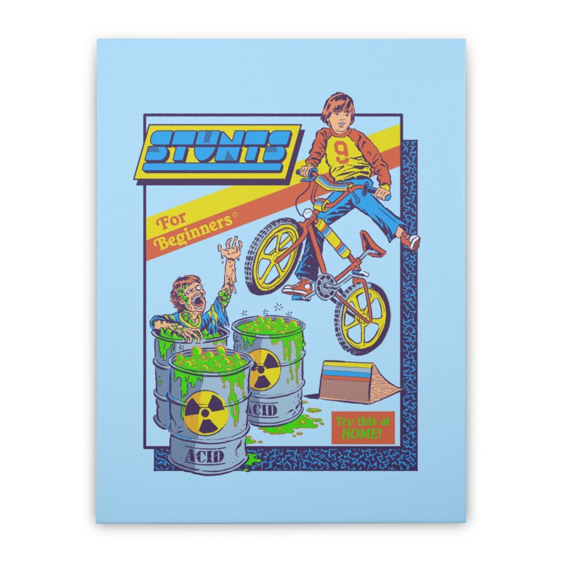 Stunts for Beginners Home Stretched Canvas by Steven Rhodes