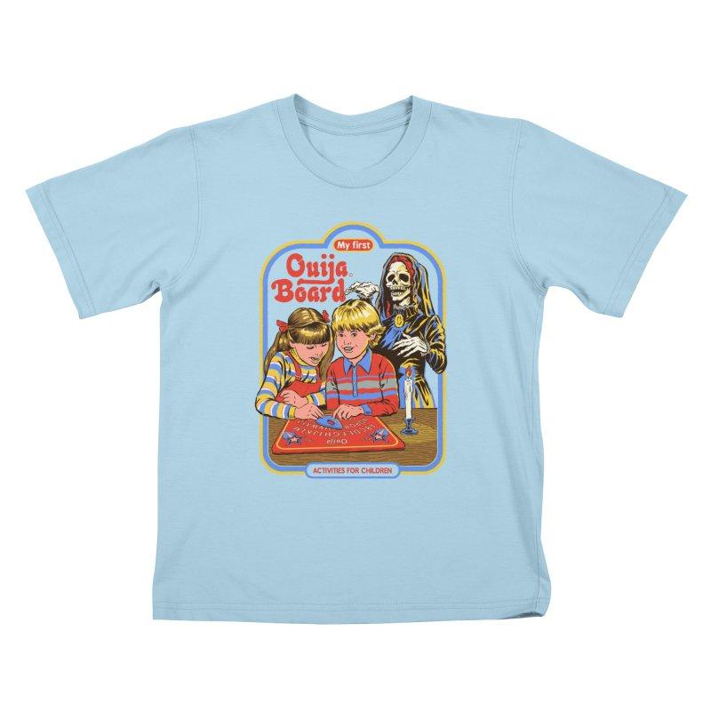 My First Ouija Board Kids T-Shirt by Steven Rhodes