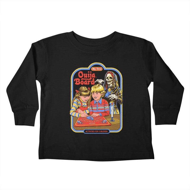 My First Ouija Board Kids Toddler Longsleeve T-Shirt by Steven Rhodes
