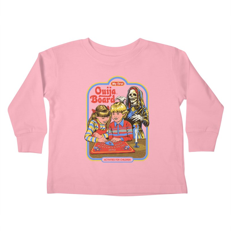 My First Ouija Board Kids Toddler Longsleeve T-Shirt by Steven Rhodes