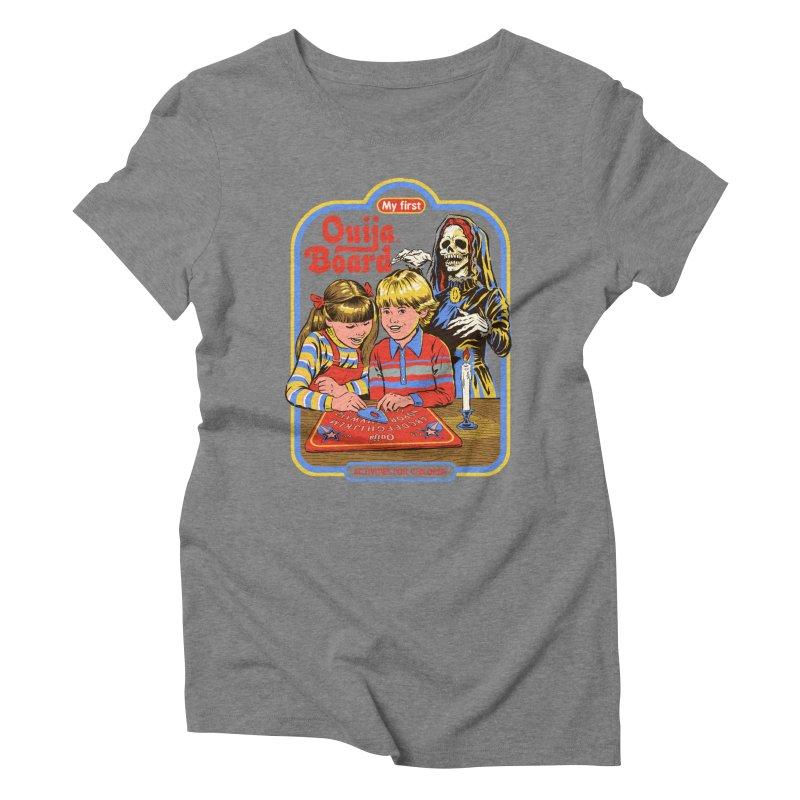 My First Ouija Board Women's Triblend T-Shirt by Steven Rhodes