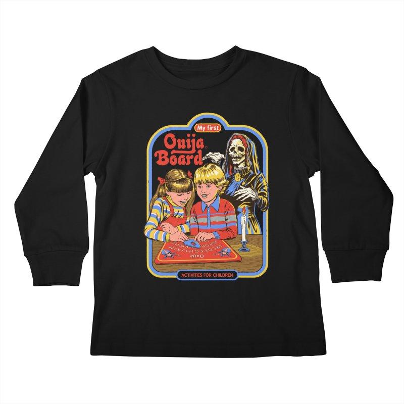 My First Ouija Board Kids Longsleeve T-Shirt by Steven Rhodes