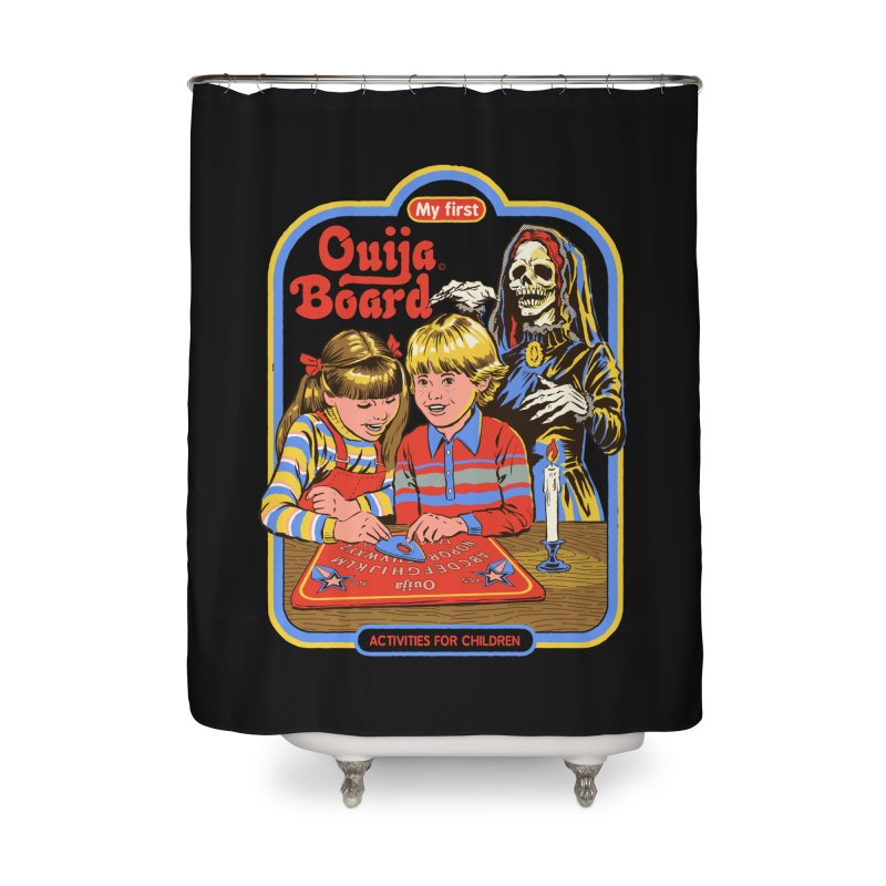 My First Ouija Board Home Shower Curtain by Steven Rhodes