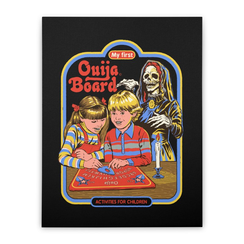 My First Ouija Board Home Stretched Canvas by Steven Rhodes