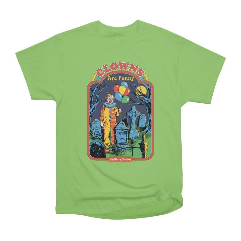 Clowns Are Funny Men's Heavyweight T-Shirt by Steven Rhodes
