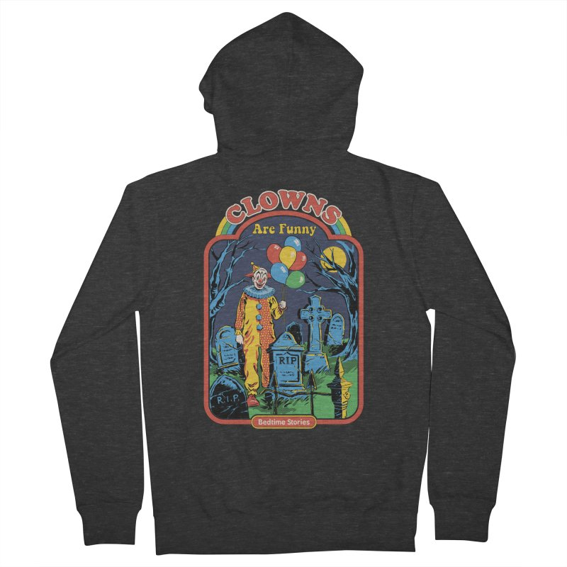 Clowns Are Funny Men's French Terry Zip-Up Hoody by Steven Rhodes