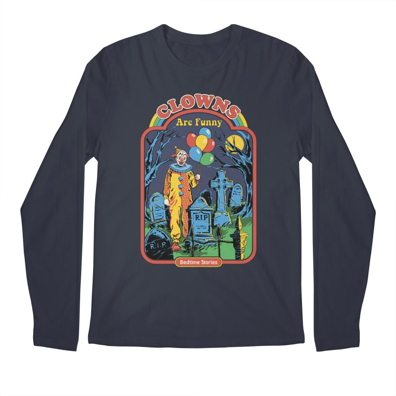 Clowns Are Funny Men's Longsleeve T-Shirt by Steven Rhodes