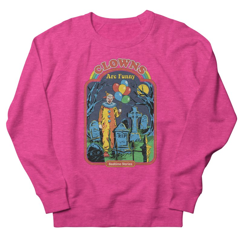 Clowns Are Funny Men's French Terry Sweatshirt by Steven Rhodes