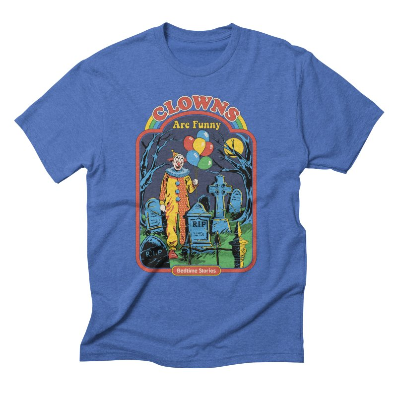 Clowns Are Funny Men's Triblend T-Shirt by Steven Rhodes