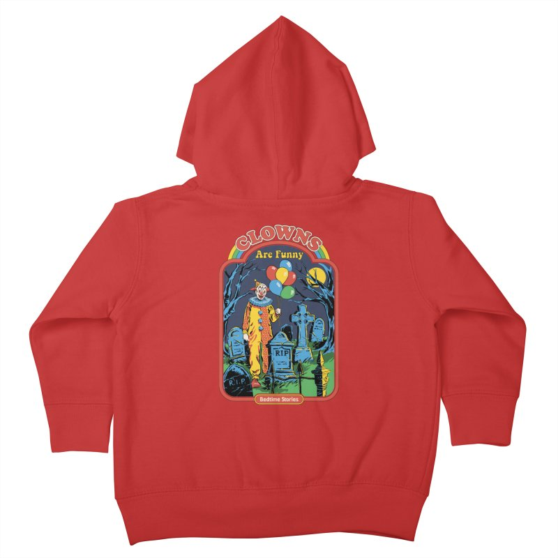 Clowns Are Funny Kids Toddler Zip-Up Hoody by Steven Rhodes