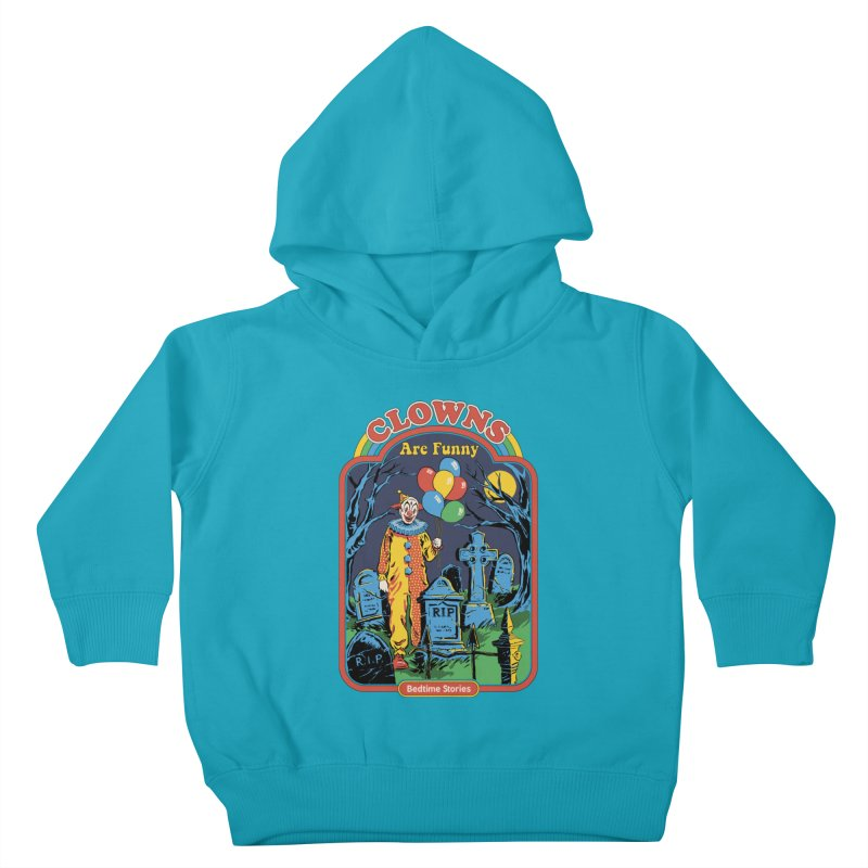 Clowns Are Funny Kids Toddler Pullover Hoody by Steven Rhodes