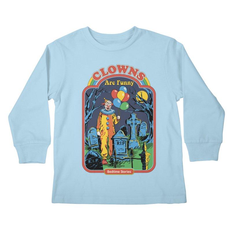 Clowns Are Funny Kids Longsleeve T-Shirt by Steven Rhodes
