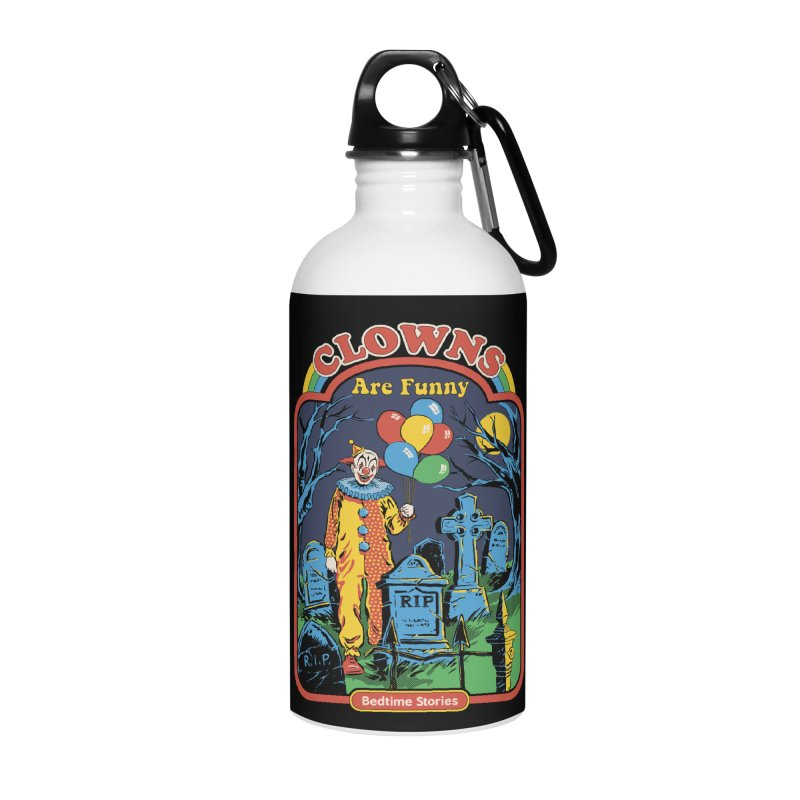 Clowns Are Funny Accessories Water Bottle by Steven Rhodes