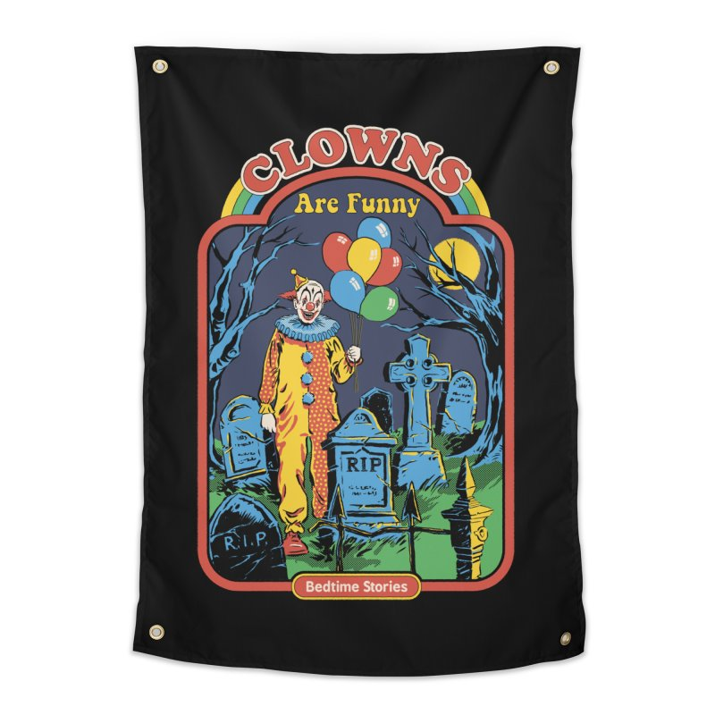 Clowns Are Funny Home Tapestry by Steven Rhodes