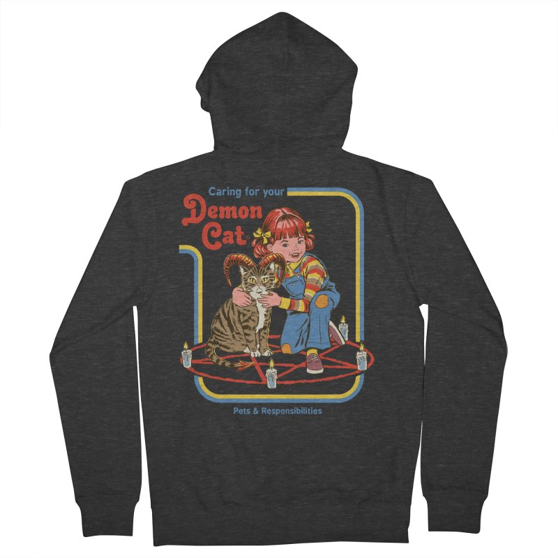 Caring for your Demon Cat Women's French Terry Zip-Up Hoody by Steven Rhodes