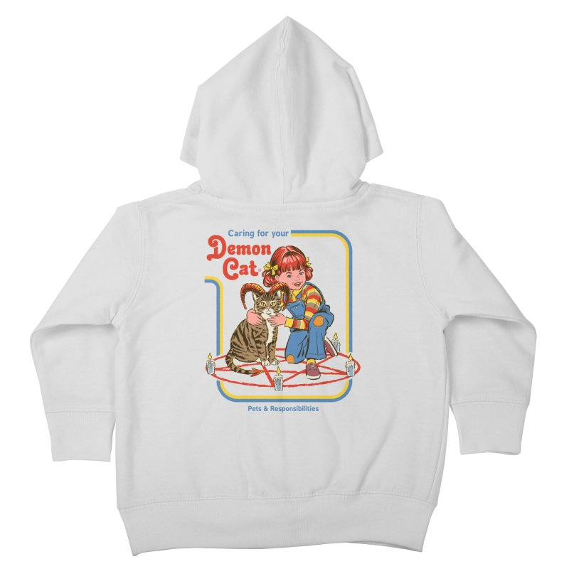 Caring for your Demon Cat Kids Toddler Zip-Up Hoody by Steven Rhodes