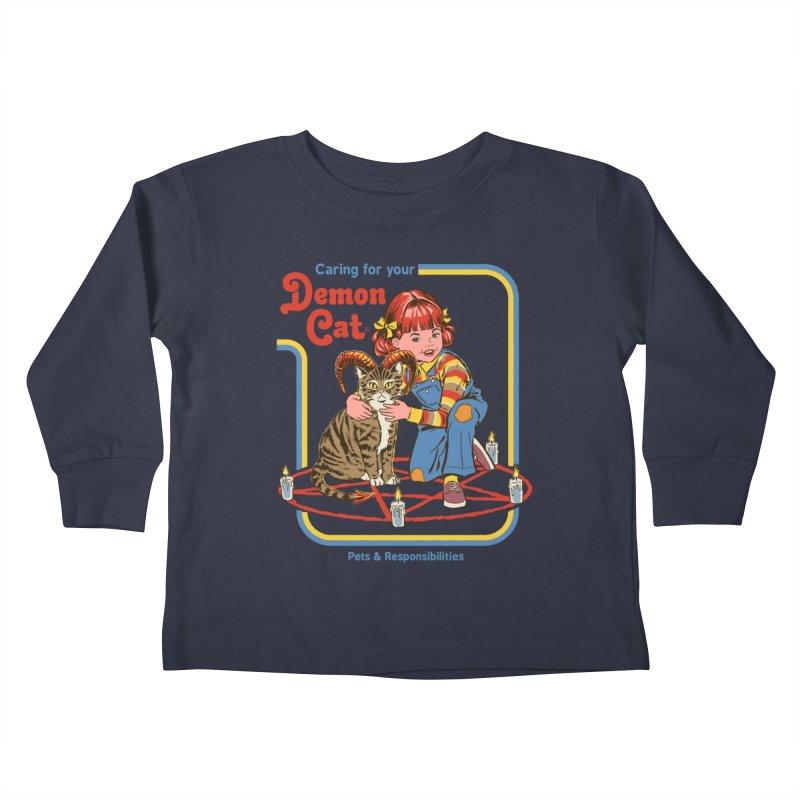 Caring for your Demon Cat Kids Toddler Longsleeve T-Shirt by Steven Rhodes