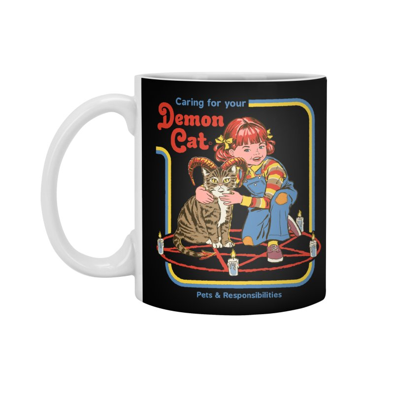 Caring for your Demon Cat Accessories Mug by Steven Rhodes