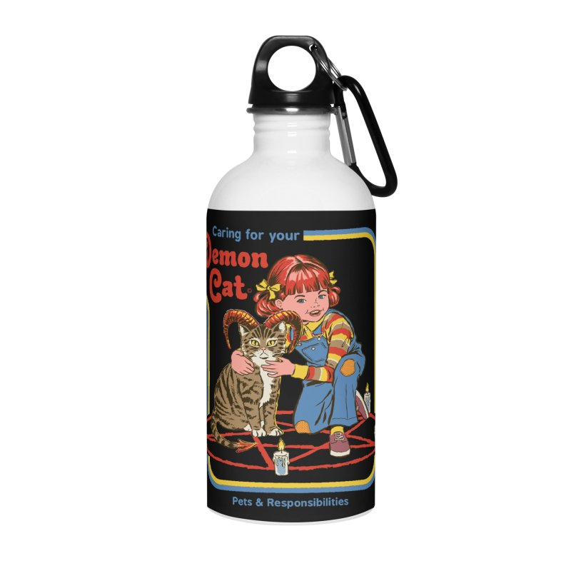 Caring for your Demon Cat Accessories Water Bottle by Steven Rhodes
