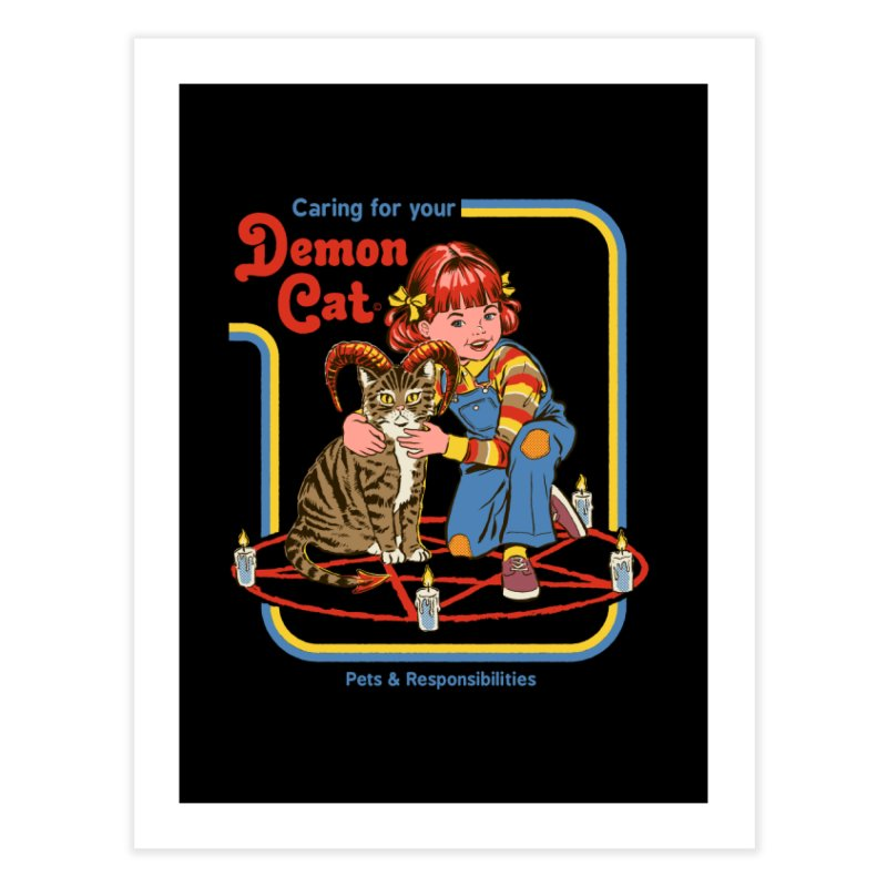 Caring for your Demon Cat Home Fine Art Print by Steven Rhodes