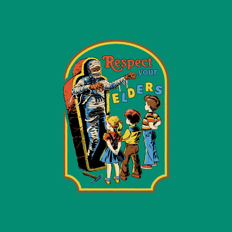 Respect Your Elders Kids Toddler Longsleeve T-Shirt by Steven Rhodes