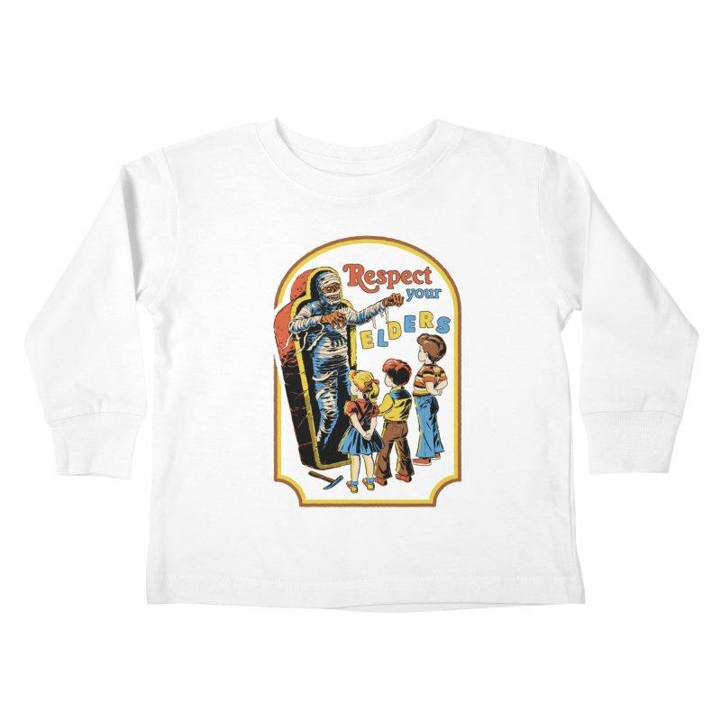 Respect Your Elders Kids Toddler Longsleeve T-Shirt by Steven Rhodes