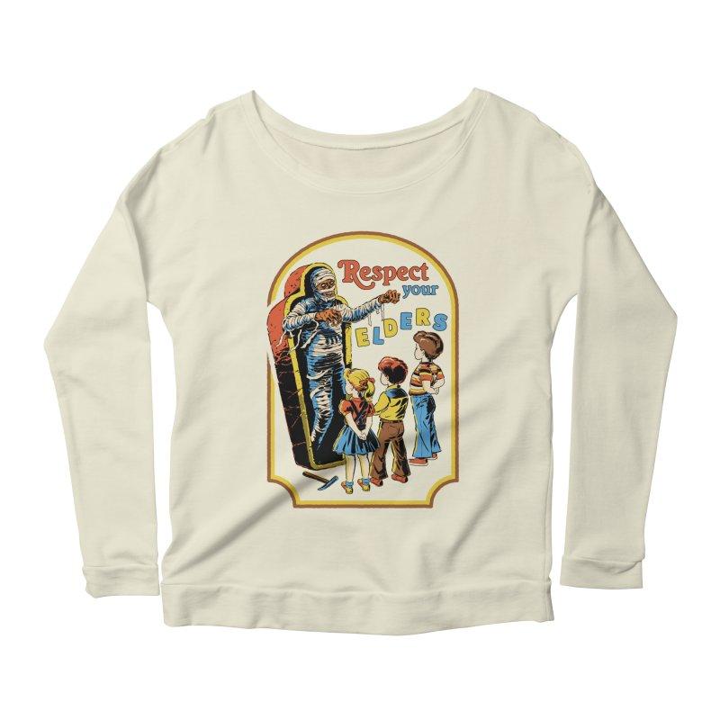 Respect Your Elders Women's Scoop Neck Longsleeve T-Shirt by Steven Rhodes