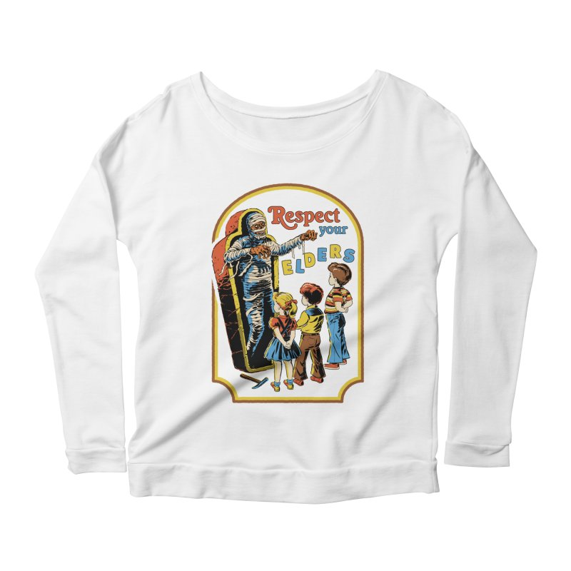 Respect Your Elders Women's Scoop Neck Longsleeve T-Shirt by Steven Rhodes