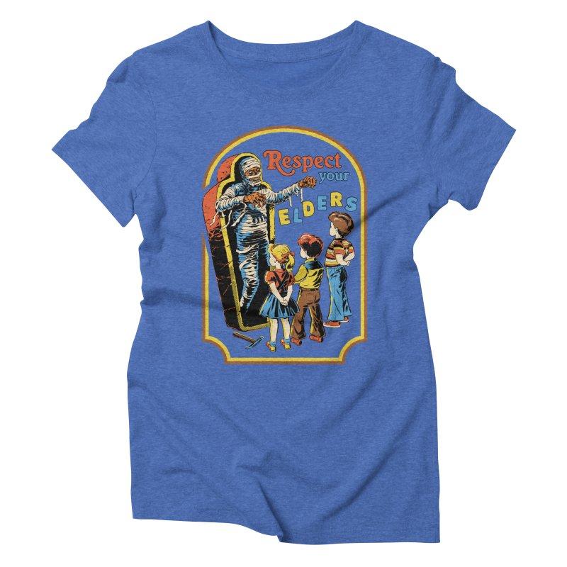 Respect Your Elders Women's Triblend T-Shirt by Steven Rhodes