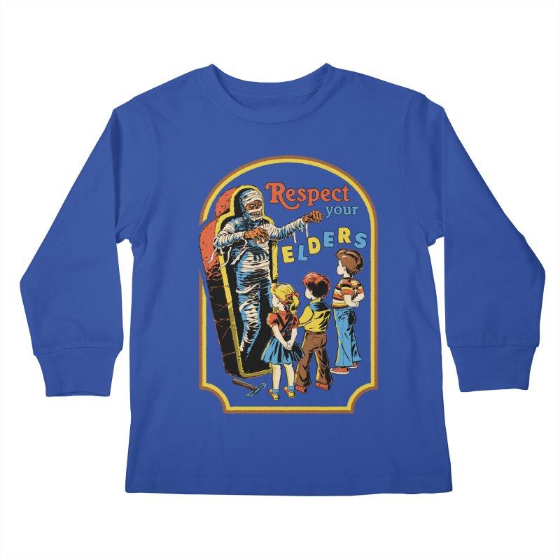 Respect Your Elders Kids Longsleeve T-Shirt by Steven Rhodes