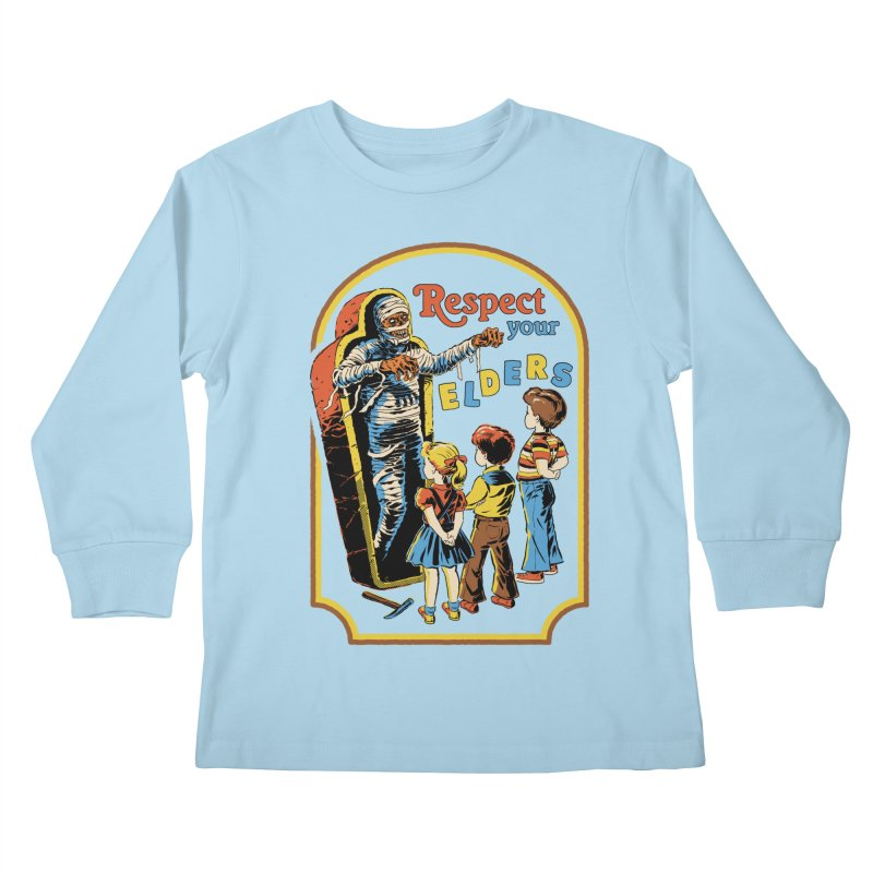Respect Your Elders Kids Longsleeve T-Shirt by Steven Rhodes