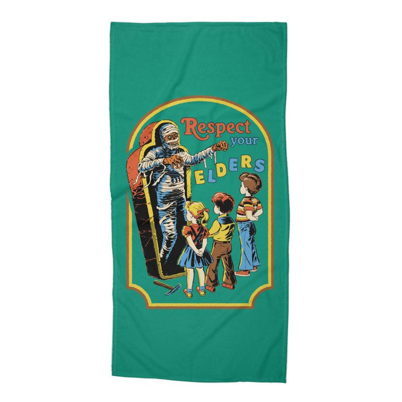 Respect Your Elders Accessories Beach Towel by Steven Rhodes