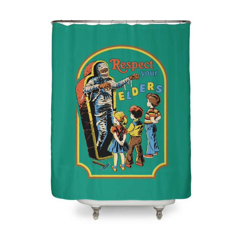 Respect Your Elders Home Shower Curtain by Steven Rhodes