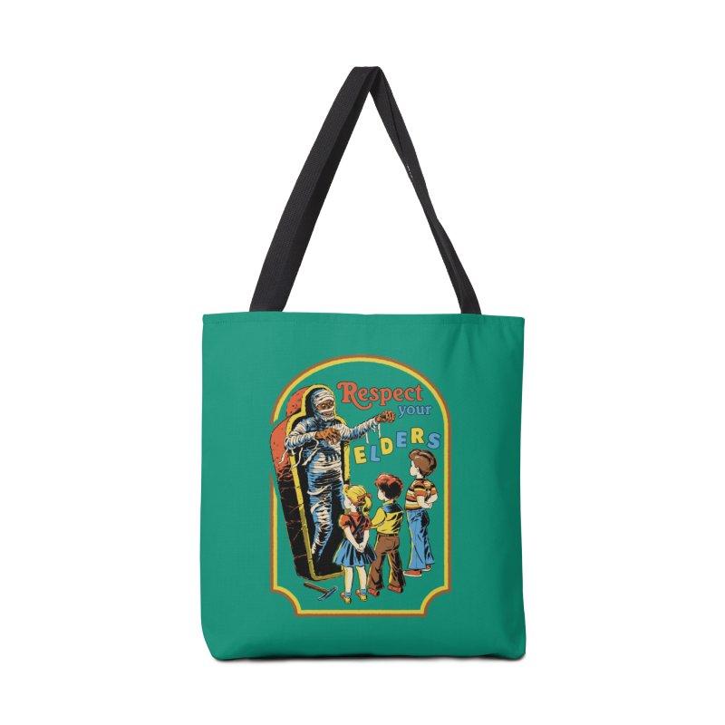 Respect Your Elders Accessories Bag by Steven Rhodes