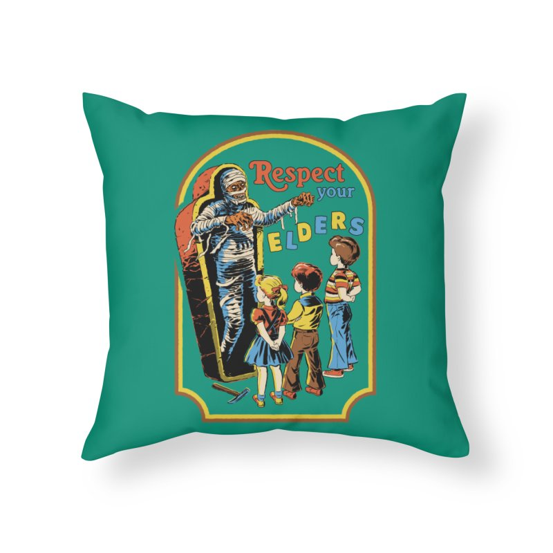 Respect Your Elders Home Throw Pillow by Steven Rhodes