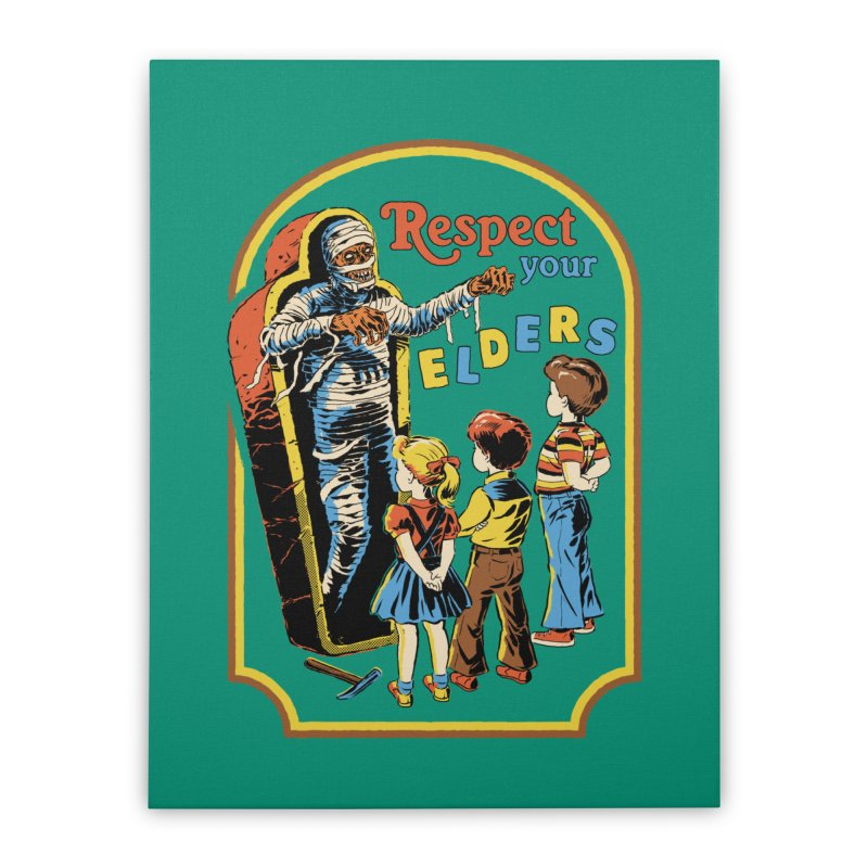 Respect Your Elders Home Stretched Canvas by Steven Rhodes