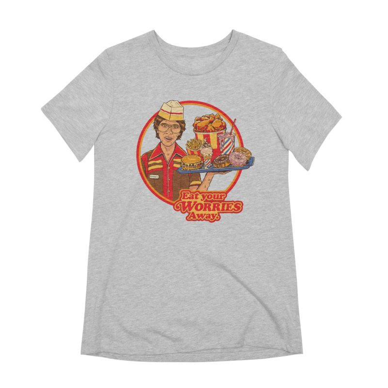 Eat Your Worries Women's T-Shirt by Steven Rhodes