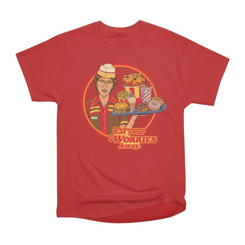 Eat Your Worries Women's Heavyweight Unisex T-Shirt by Steven Rhodes